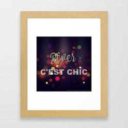 rêver c'est chic Framed Art Print