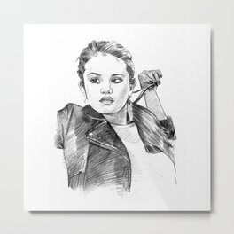 Sel Gomez - Pencil Art Metal Print