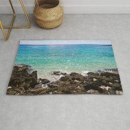 The Rocky Sea Shores of Cayman Island Rug
