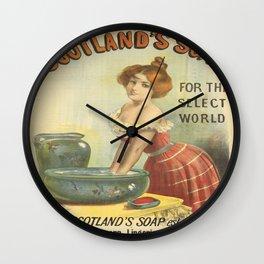 Vintage poster - Scotland's Soap Wall Clock