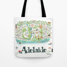 Adelaide Map Tote Bag