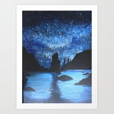 Starry Seas Art Print
