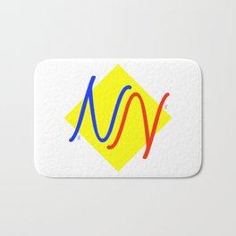 """NY""  Invertible design monogram Bath Mat"