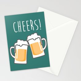 Cheers for peers with beer - Enjoy beer day with your friends Stationery Cards