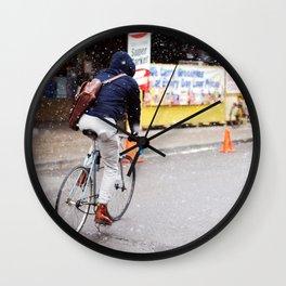 Winter Biking Wall Clock