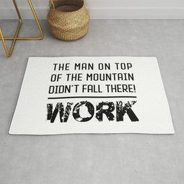 Work - Hustle Motivation for Entrepreneurs Fitness Trainer And Bodybuilder Rug
