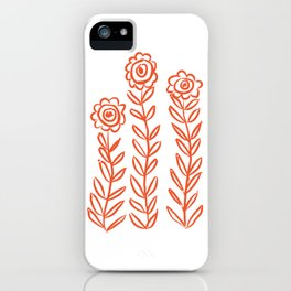 Flower Party in Flame iPhone Case