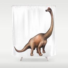 Realistic watercolor dinosaur Shower Curtain