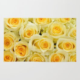 soft yellow roses close up Rug