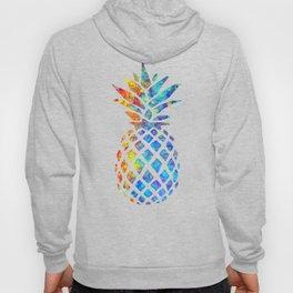 Watercolor and Splatter Pineapple I Hoody