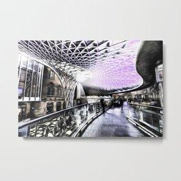 Kings Cross Station Art Metal Print