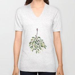 Mistletoe Sprig Unisex V-Neck