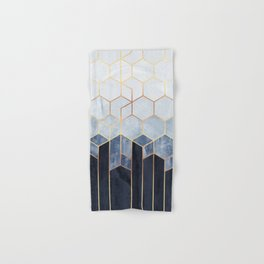 Soft Blue Hexagons Hand & Bath Towel