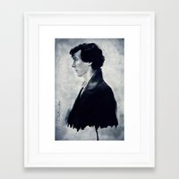 sherlock Framed Art Prints featuring Sherlock by LindaMarieAnson