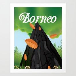 Borneo Rainforest travel poster Art Print