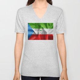 Equatorial Guinea Flag Unisex V-Neck