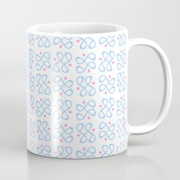 Symmetric patterns 197 blue and pink Coffee Mug