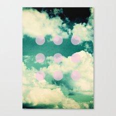 Clouds + Dots Canvas Print