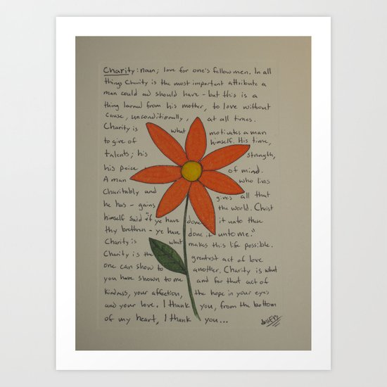 Charity Art Print