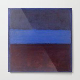 No.61 Rust and Blue 1953 by Mark Rothko Metal Print
