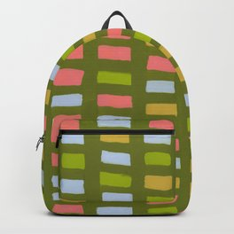Painted Color Block Rectangles Backpack