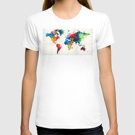 World Map 19 - Colorful Art By Sharon Cumming T-shirt