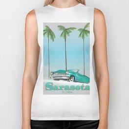 Sarasota Florida vintage style travel poster Biker Tank