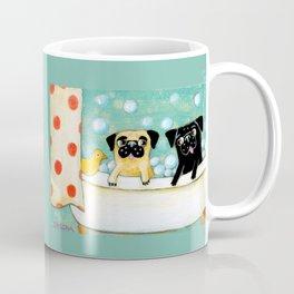 Pug Bath Time cute pug painting by TASCHA Coffee Mug