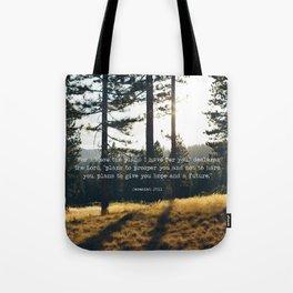 Golden Jeremiah 29:11 Tote Bag