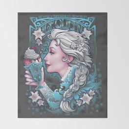 Ice Cream Queen Throw Blanket