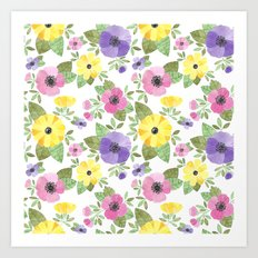Spring Bouquet Watercolor Art Print