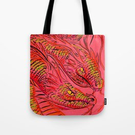Tri-Dragon Tote Bag