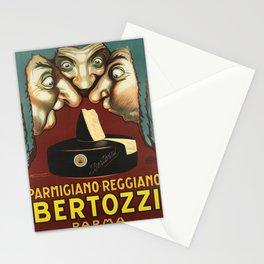 vintage poster parmigiano reggiano bertozzi parma Stationery Cards
