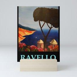 Ravello Salerno Italy View Of Amalfi Coast From Villa Rufolo Mini Art Print