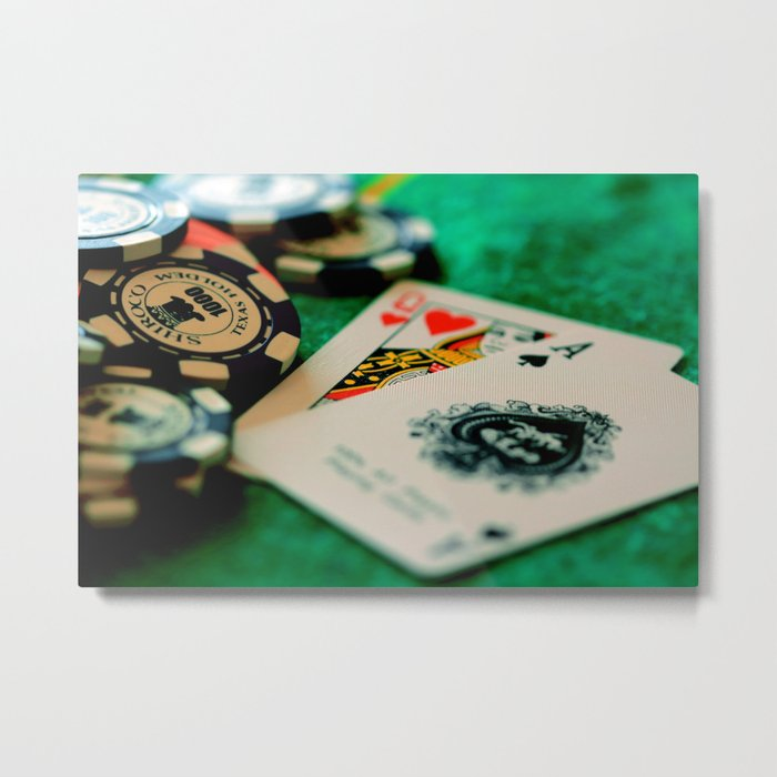 Casino Chips & Cards Metal Print