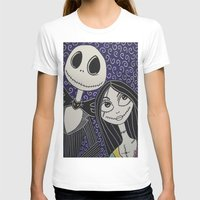 jack skellington T-shirts featuring Jack Skellington and Sally by KittyOG