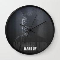 donnie darko Wall Clocks featuring Donnie Darko by justjeff
