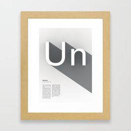 The Typographic Alphabet: Univers (21/26) Framed Art Print