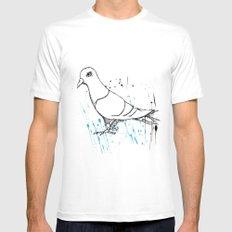 Bird Of Grey Mens Fitted Tee White MEDIUM