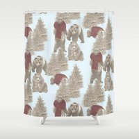 bears Shower Curtains featuring Bears  by Ellie Price