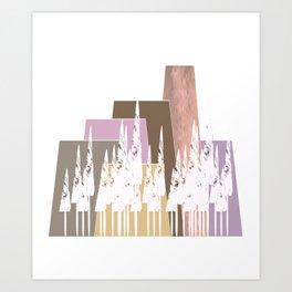 Pastel Mountains Art Print