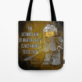 Samurai Musashi Martial Arts quote Tote Bag