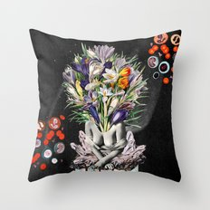 Hay for Brain Throw Pillow