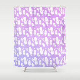 Popsicles Just Wanna Have Fun - Purple Ombre Shower Curtain