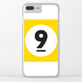 9 ball yellow Clear iPhone Case
