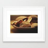 shells Framed Art Prints featuring Shells by BURNEDINTOMYHE∆RT♥