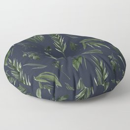 Winter Leaf Pattern 2 (Navy) Floor Pillow