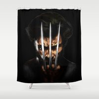 x men Shower Curtains featuring x men by Fila Venom Art