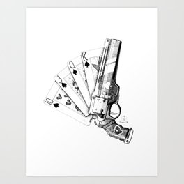 The Ace of Spades Art Print