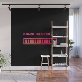 Downloading progress bar 8-bit hue Wall Mural